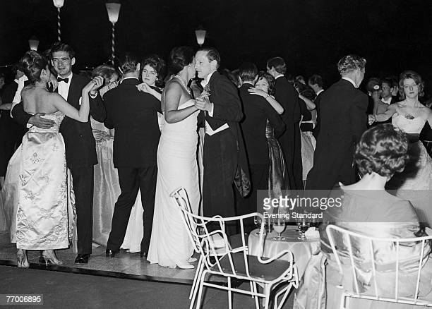 A party at Sutton Place the Surrey home of American oil tycoon J Paul Getty 1st July 1960 The guests dance on the lawn of the mansion