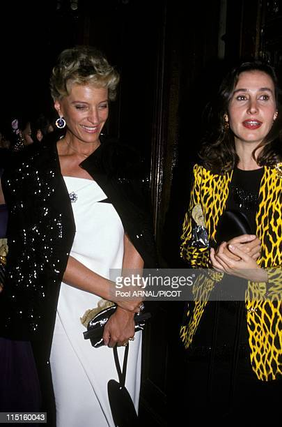 Party at the Opera comedy in Paris France in June 1992 Carmen MartinezBordiu with Princess MarieChristine of Kent