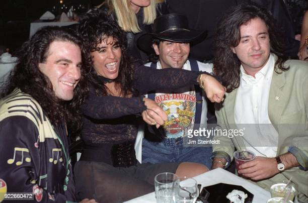 Party at Woody's Miami Beach featuring Maria Conchita Alonso Tico Torres Alec John Such in 1988