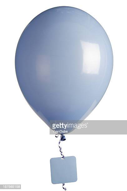 party balloon and blank tag