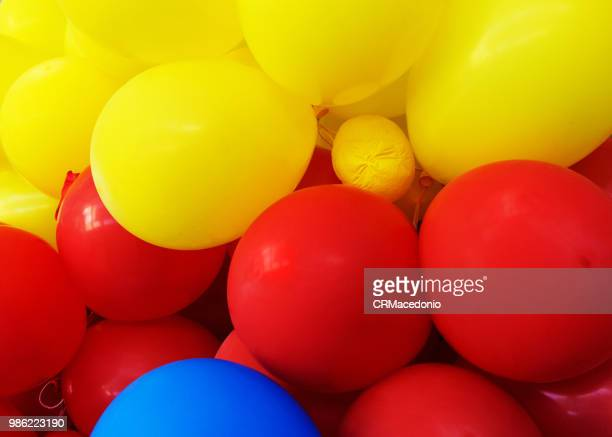 party balloons and colors. - crmacedonio stock photos and pictures