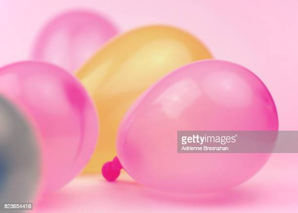 Party Balloons on Pink Background