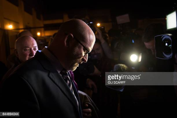 UKIP party candidate Paul Nuttall leaves the Fenton Manor Sports Complex after failing to be elected as the Member of Parliament for the StokeonTrent...