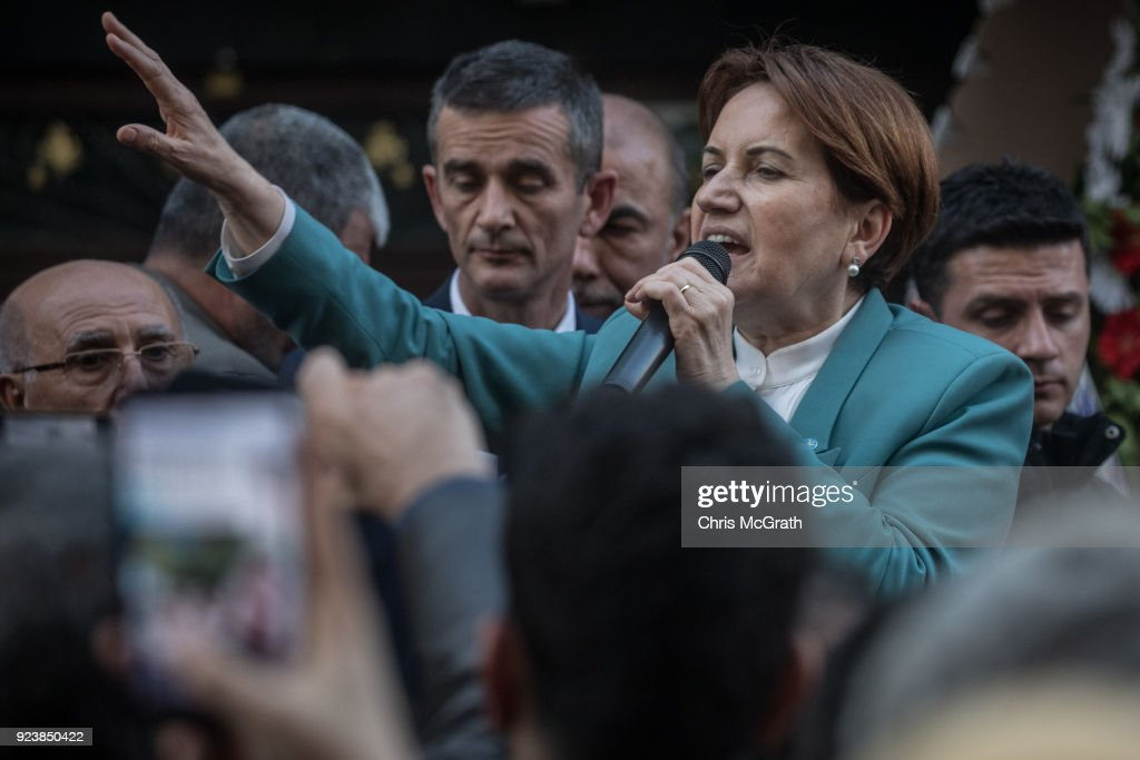 Meral Aksener And IYI Party Campaign In Support For Afrin Operation