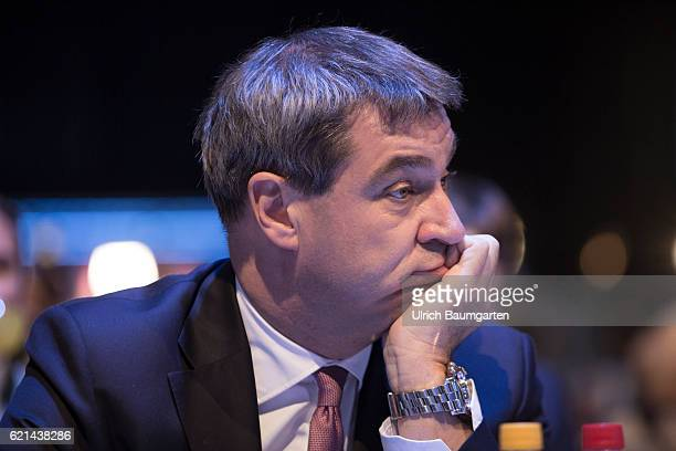 Party conference of the Christian Social Union in Munich Markus Soeder Bavarian Minister of Finance