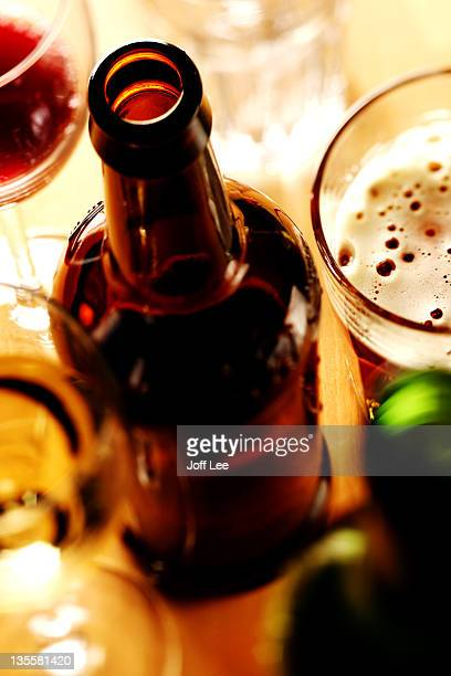 Party drinks - wine and beer