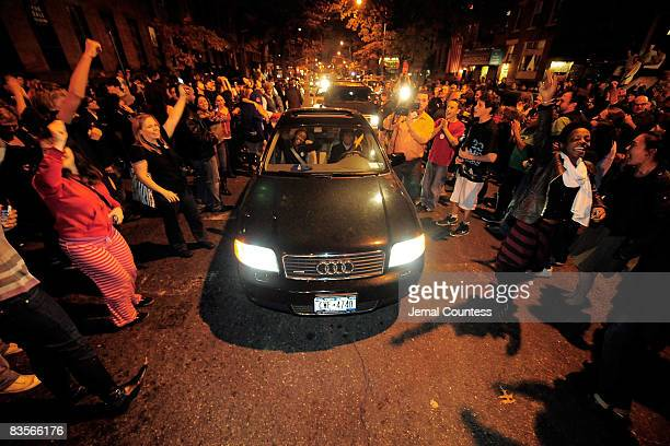 Party erupts at the intersection of South Portland and Lafayette Ave in the culturally diverse neighborhood of Fort Green on November 4 in Brooklyn,...