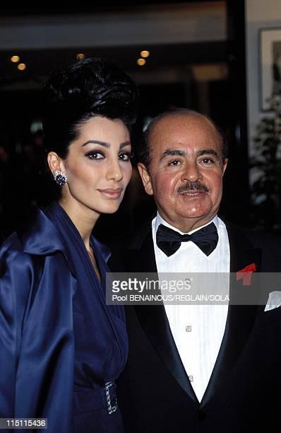 Party for AIDS in Cannes France on May 20 1993 Adnan Khashoggi Shahpari Khashoggi