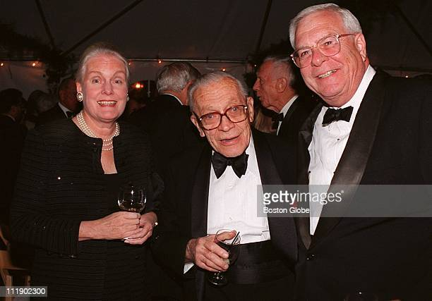 Party for John Kenneth Galbraith Prudence and Bill Crozier of Wellesley with Prof John Dunlap of Belmont in the center