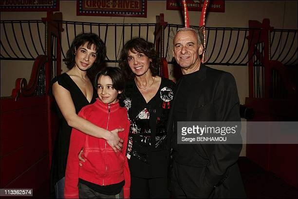 Party For Laurette Fugain Association On February 8Th 2005 In Paris France Michel And Stephanie Fugain With Their Children Marie And Alexis