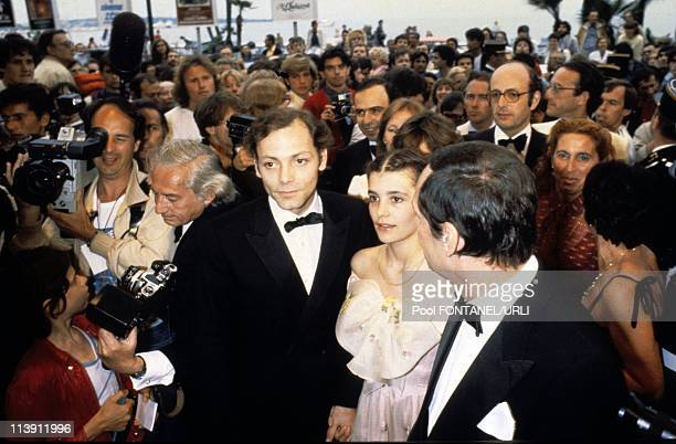Party for the film 'Beaupere' by director Bertrand Blier starring Patrick Dewaere and Ariel Besse at Cannes Film FEstival in Cannes France on May 1981