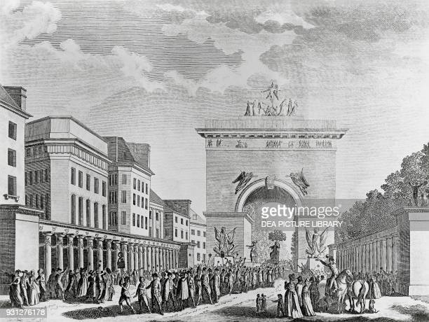Party for the promulgation of the Constitution of 1793 engraving French Revolution France 18th century