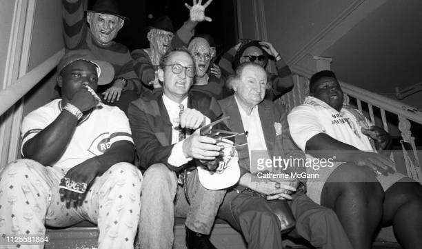 Party for the release of one of the 'Nightmare on Elm Street' films in 1988 at the Palladium night club in New York City New York Pictured American...