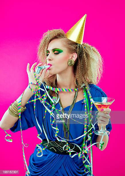 party girl - streamer stock photos and pictures