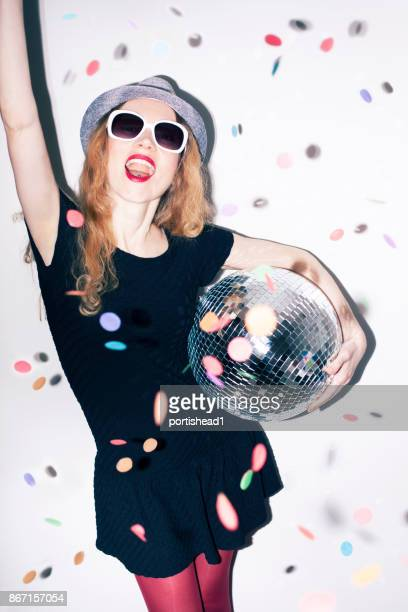 party girl - crazy holiday models stock photos and pictures