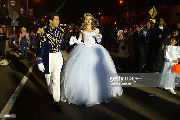 Party goers dress up for the 2002 West Hollywood Halloween Parade featuring Pink October 31 2002 on Santa Monica Boulevard in West Hollywood...