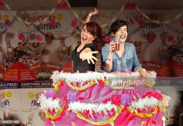 TORONTO ON FEBRUARY 25 Party goers try out the huge birthday cake on hand The famed Honest Ed's has one last weekend hurrah at the now empty store...
