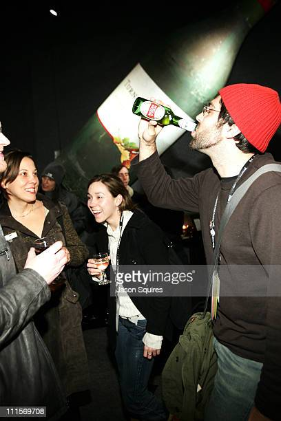 Party guests enjoy Turning Leaf wines and Stella Artois beer at the IFP/LA party at the Turning Leaf Vineyards Leaf Lounge at the IFP/LA party at the...
