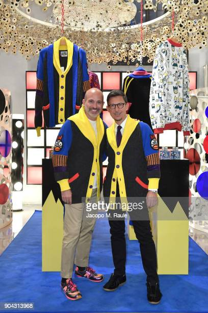 Party host Alessandro Maria Ferreri Chief Executive Officer of The Style Gate and Marco Bonaldo owner of GalateoFriends attend Food For Fashion Party...