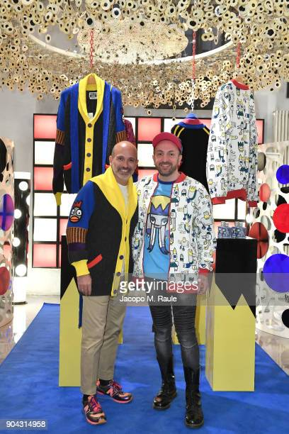 Party host Alessandro Maria Ferreri Chief Executive Officer of The Style Gate and designer Carlo Volpi attend Food For Fashion Party With Carlo Volpi...