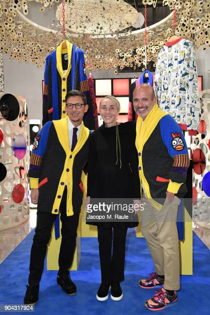 Party host Alessandro Maria Ferreri Chief Executive Officer of The Style Gate Carla Sozzani and Marco Bonaldo owner of GalateoFriends attend Food For...