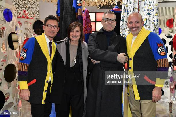 Party host Alessandro Maria Ferreri Chief Executive Officer of The Style Gate Marco Bonaldo owner of GalateoFriends Francesca Bianco and Riccardo...