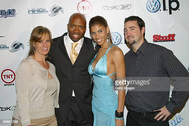 Party host Kenny Smith and wife Dawn with Leigh Ann Bingham of Reebok and Doug Turner of Stuff Magazine at the Stuff Magazine Reebok NBA AllStar...