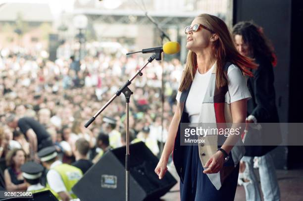 Party in the square the BRMB Radio Party in the Square at Centenary Square in Birmingham with a host of top stars Pictured is Belinda Carlisle 30th...