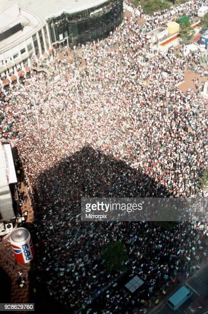 Party in the square the BRMB Radio Party in the Square at Centenary Square in Birmingham with a host of top stars 30th August 1993