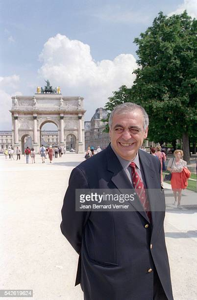 RPR party leader Philippe Seguin stands near the Arc de Triomphe du Carrousel in Paris He campaigning for the 2000 city elections as a rightwing...