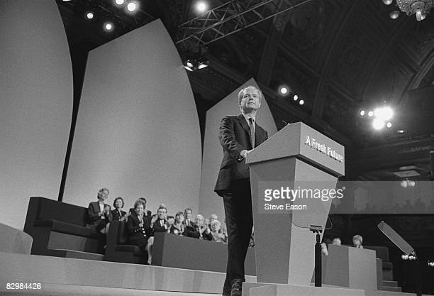 Party leader William Hague speaks during the Conservative Party Conference at Blackpool October 1997
