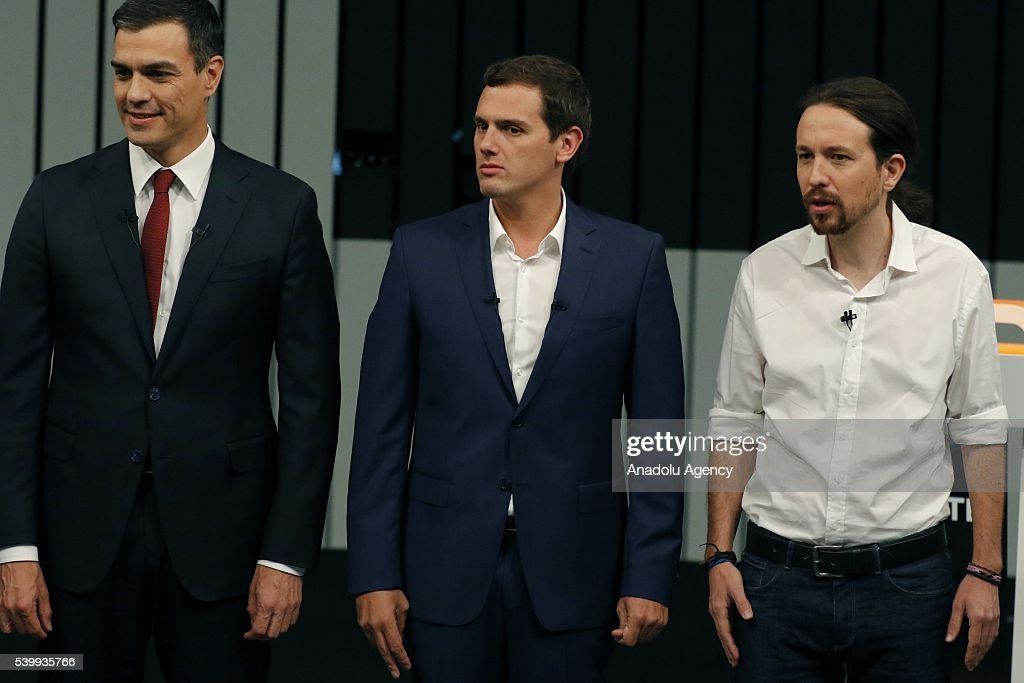 Election debate among the four candidates in Spain : News Photo