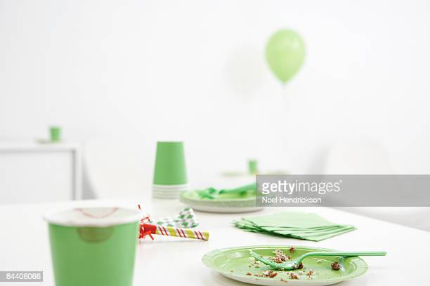 party leftovers - table after party stock pictures, royalty-free photos & images