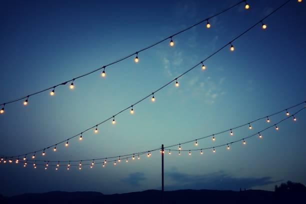 Party Lights Outdoor Wedding Reception - Fine Art prints