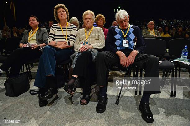 Party members have a snooze as David Laws Schools and Education Minister addresses the Liberal Democrats' Party Conference on September 22 2012 in...