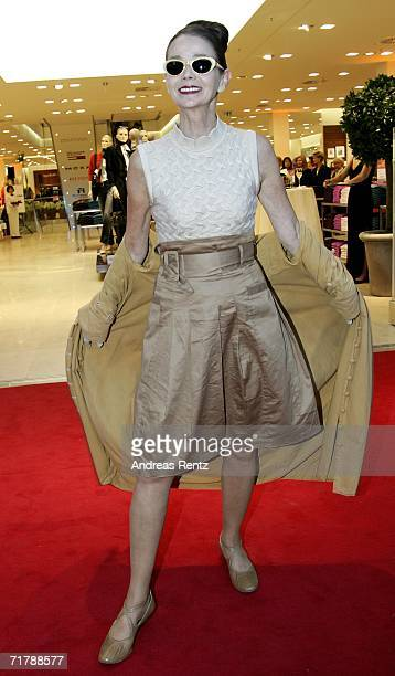 Party model Britt Kanya attends the opening of Berlin's new fashion store AppelrathCuepper on September 5 2006 in Berlin Germany