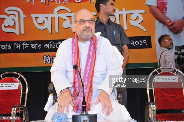 BJP Party National President Amit Shah at the BJP Party Special meeting on September 112017 in KolkataIndia