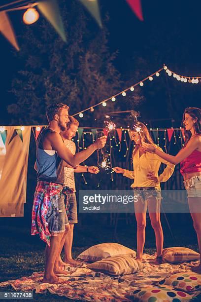 Party-Abend mit Freunden