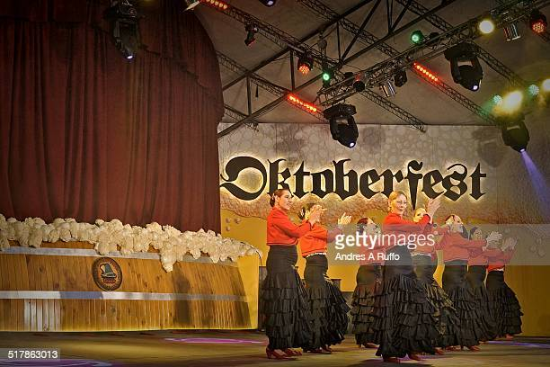 Party Oktoberfest Argentina National Beer Festival in the town of Villa General Belgrano on October 3 2014