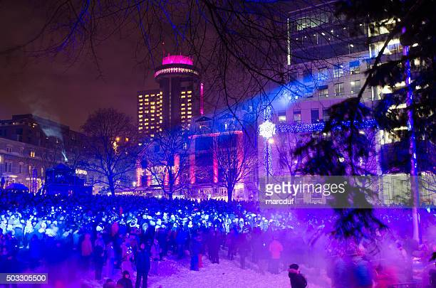 Party on Place de la Francophonie  for New Year's Eve