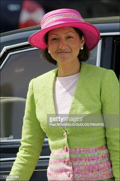 Party on the Royal yacht for the wedding of Prince Frederik and Mary Donaldson in Copenhagen Denmark on May 13 2004 Princess Alexandra