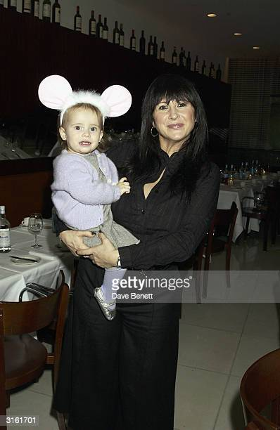 Party organiser Fran Cutler and her daughter at the Angelina Ballerina Nutcracker gala preparty on December 3rd 2002 at the St Martins hotel in...