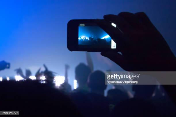 dj party, people dancing in the club, bangkok nightlife - argenberg stock pictures, royalty-free photos & images