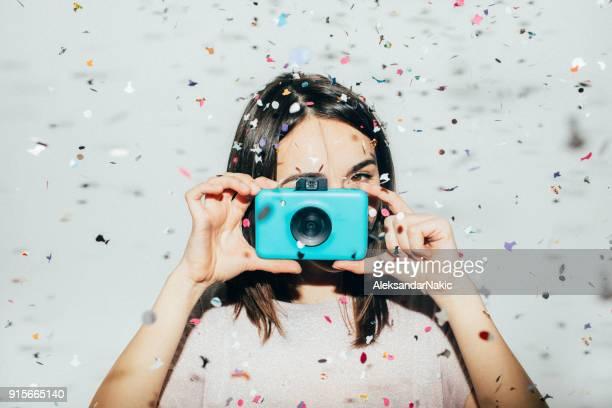 fotógrafo festa - colorido pastel - fotografias e filmes do acervo