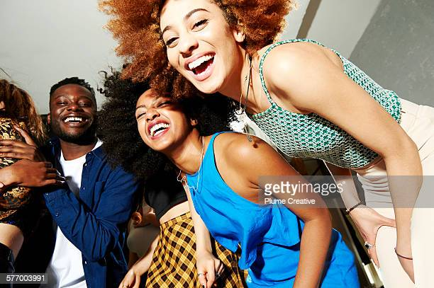 party - black people laughing stock photos and pictures