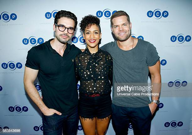 DIEGO UCP Party Pictured Steven Strait Dominique Tipper Wes Chatham The Expanse