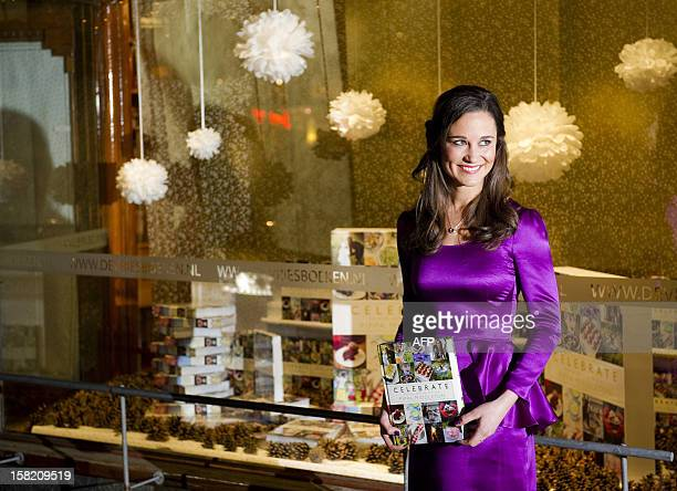 Party planner Pippa Middleton promotes the Dutch edition of her book Celebrate A Year of British Festivities for Families and Friends in a bookstore...