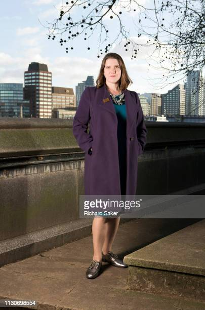 UK party politician with the Liberal Democrats Jo Swinson is photographed for the Guardian on January 8 2019 in London England