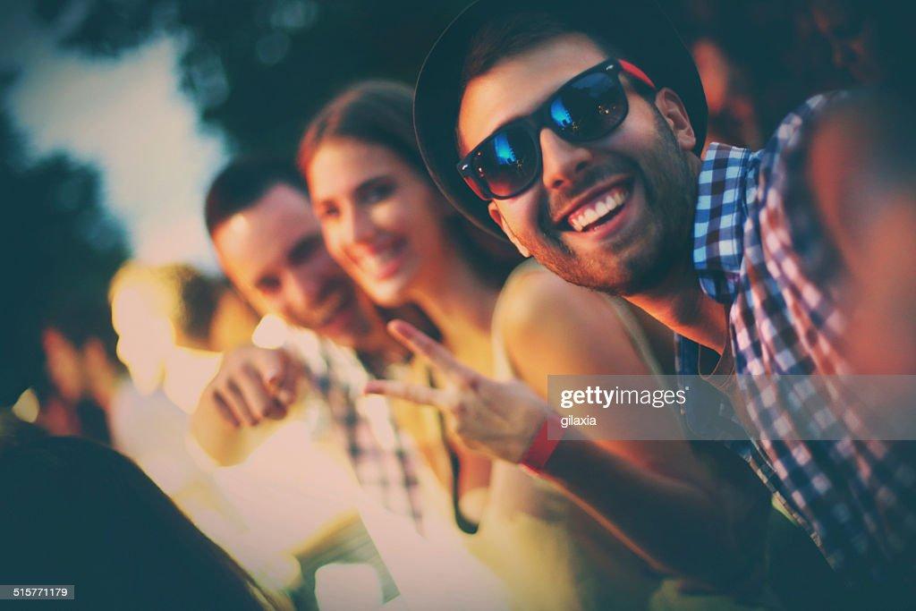 Party selfie. : Stock Photo