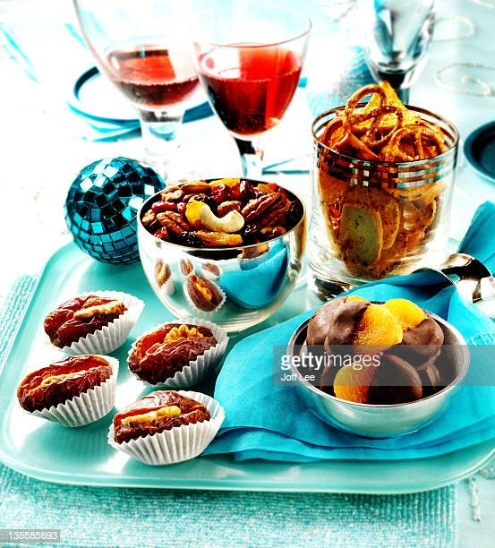 Party snacks - crisps, nuts and dried fruit